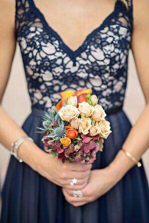 Compact Multicolor Bridesmaid Bouquet
