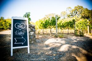 Wine Country Wedding Welcome Sign