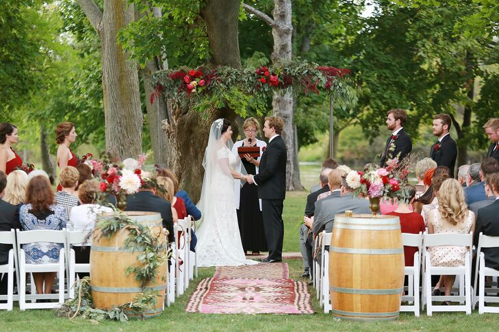 Turkish Kilim Rug-Lined Ceremony Aisle