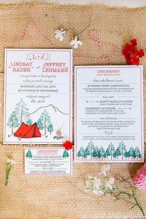 Camping-Inspired Wedding Invitations