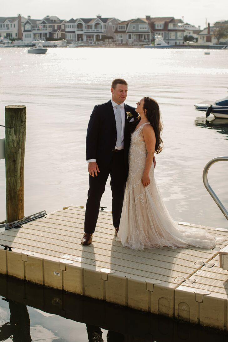 Bride and Groom Portraits at The Reeds at Shelter Haven in Stone Harbor, New Jersey