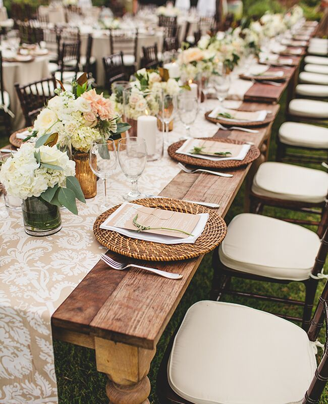 patterned tablecloths | SMS Photography | blog.theknot.com