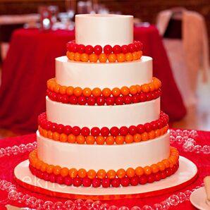 Red and Orange Gumball Cake