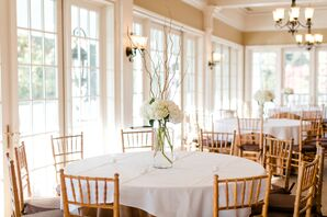 Classic Hydrangea and Willow Branch Centerpiece