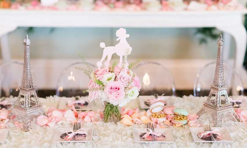 Parisian party themed inspiration and ideas