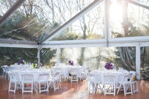 Clear Reception Tent With White Tables