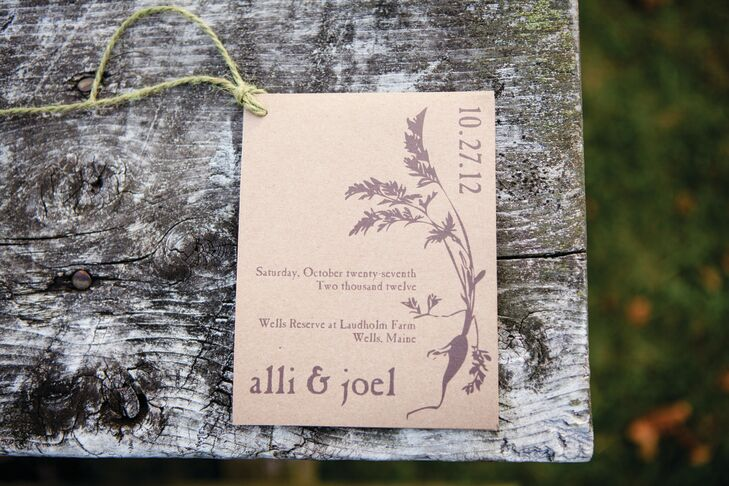 The programs matched the invites and were printed on what looked like butcher's paper with brown ink.  They were clean, elegant, and made with recycled paper. The pages were held together by twine.