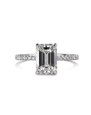 Mark Broumand Classic Emerald Cut Engagement Ring