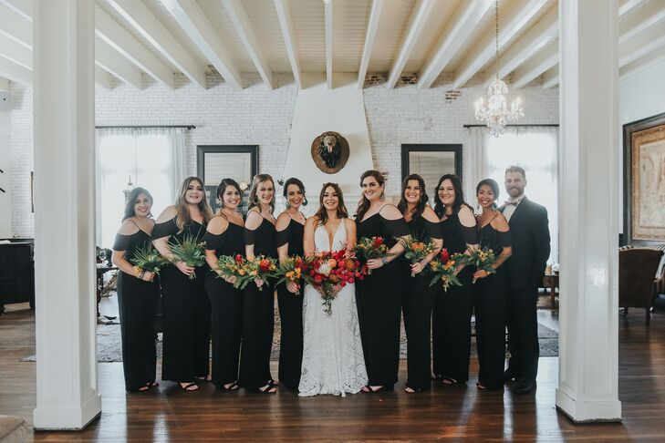 Wedding Party Portraits at Ebell Long Beach in California