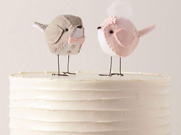 two birds wedding cake topper