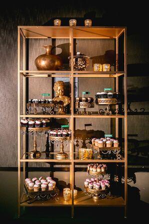 Gold Cupcake Display Case
