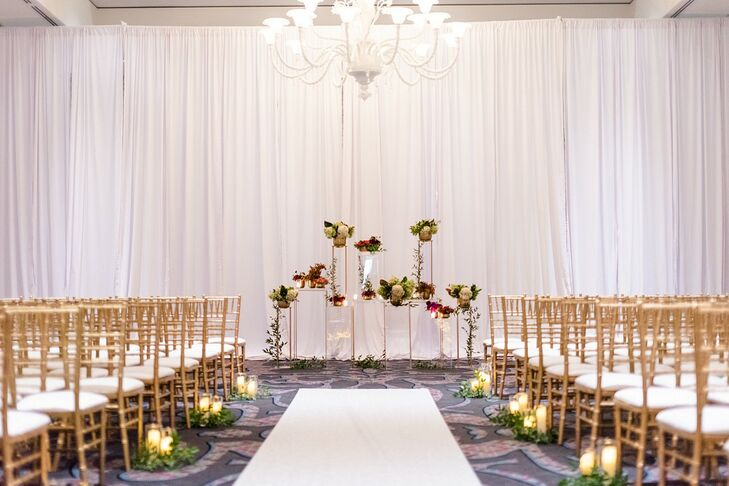Modern Indoor Loft Ceremony at The Nines Hotel in Portland, Oregon