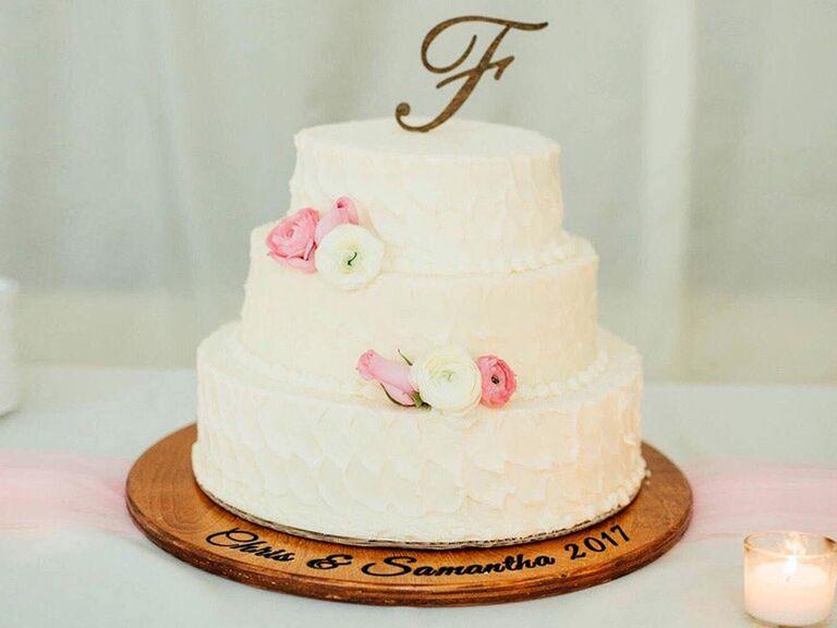 Custom wooden wedding cake stand