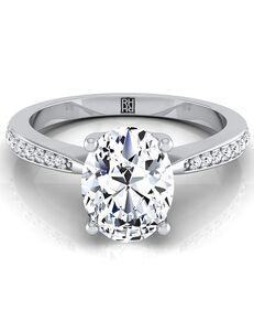 RockHer Unique Oval Cut Engagement Ring