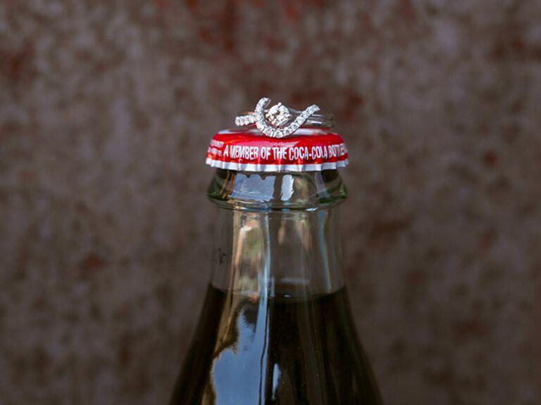 Coke bottle engagement ring