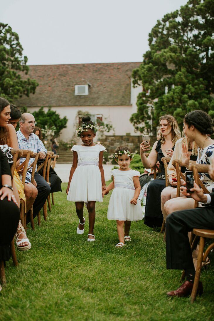 Flower Girls at Wedding in Southampton, New York