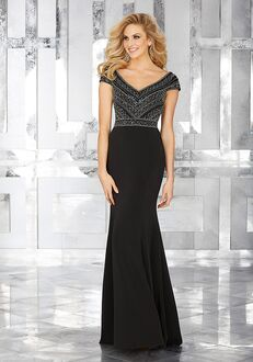 MGNY 71634 Black Mother Of The Bride Dress
