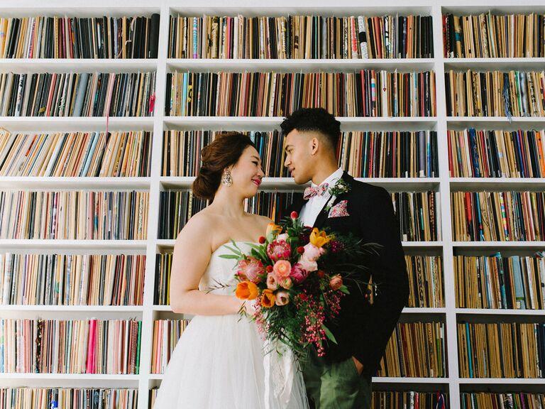 Library wedding venue in Brooklyn, New York.