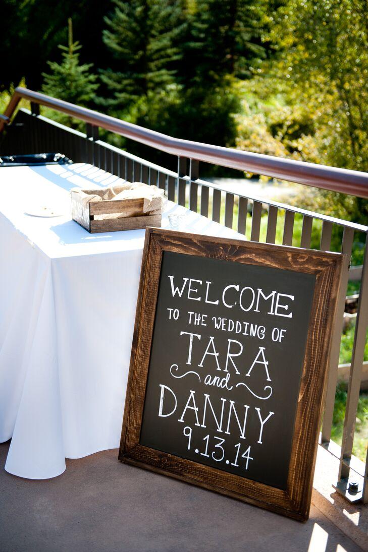 DIY Chalkboard Welcome Wedding Sign