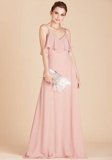 Birdy Grey Jane Convertible Dress in Rose Quartz V-Neck Bridesmaid Dress