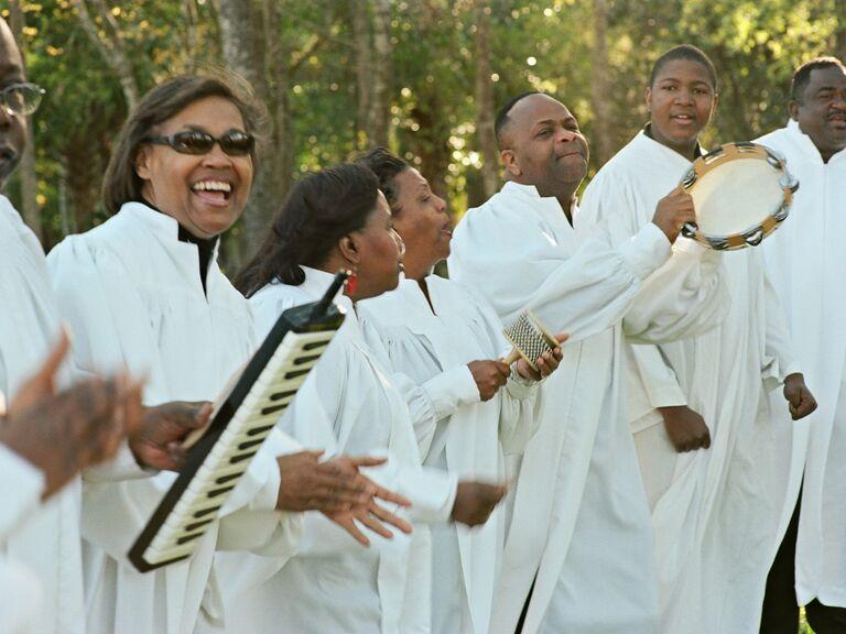 Gospel choir ceremony musicians
