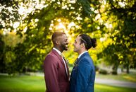 Despite being denied a city permit to marry at McFerson Commons Park, Brandon Buchanan (27 and works in health care) and Joseph Pedro (32 and a genera