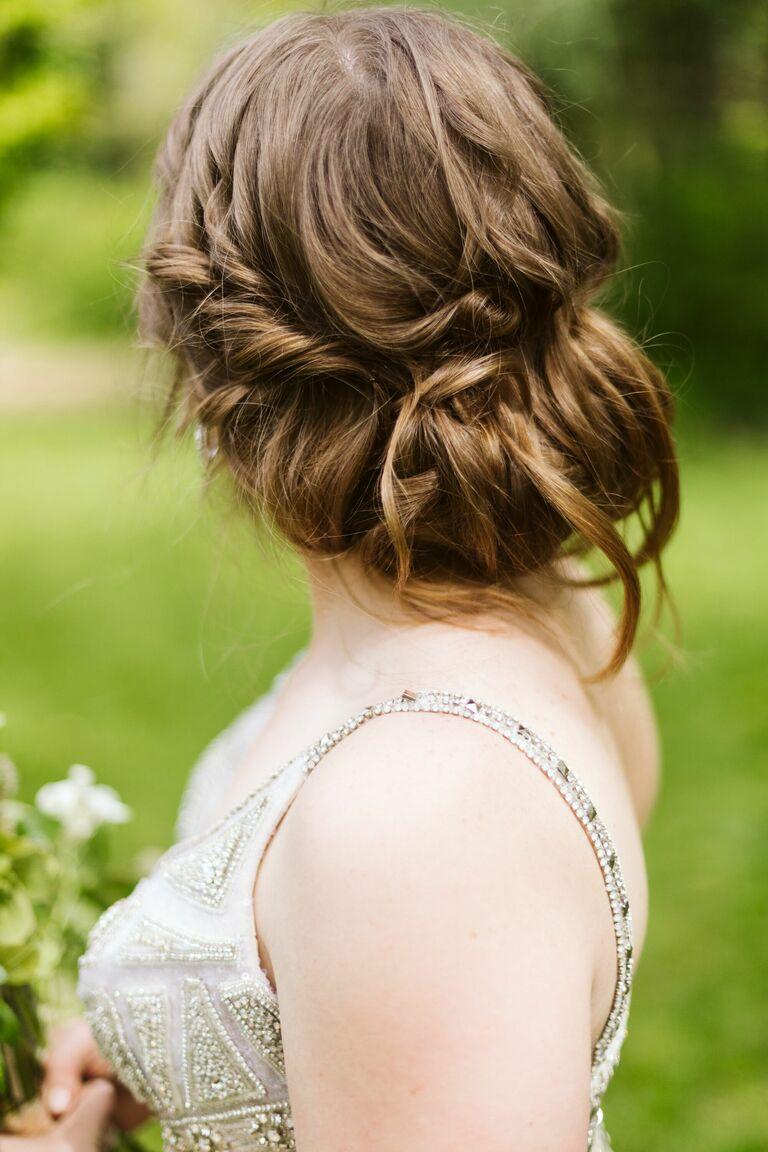 Wedding updo curly updo