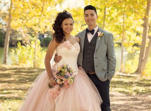 Alana Shephard (22 and a design engineer) and Samyuell Mongkhonsavath's (23 and a soldier in the US Army) late fall wedding felt straight out of the p