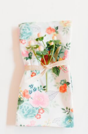 Cheerful Floral Linens and Hypericum