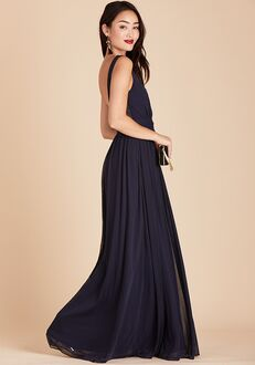 Birdy Grey Jan Scoop Back Dress in Navy Scoop Bridesmaid Dress