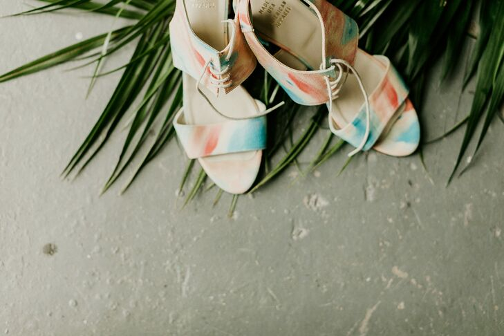 Colorful Shoes with Watercolor Design