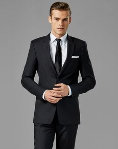 Generation Tux Charcoal Notch Lapel Suit Gray Tuxedo