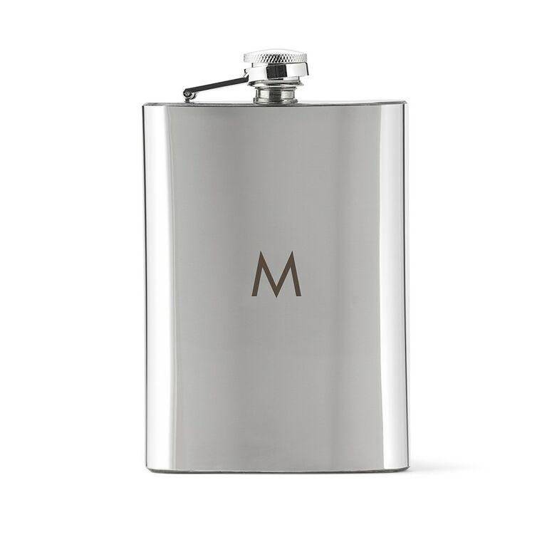 The Knot Shop's monogrammed flask groomsmen gift