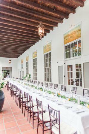Classic Neutral Reception at Los Poblanos Ranch