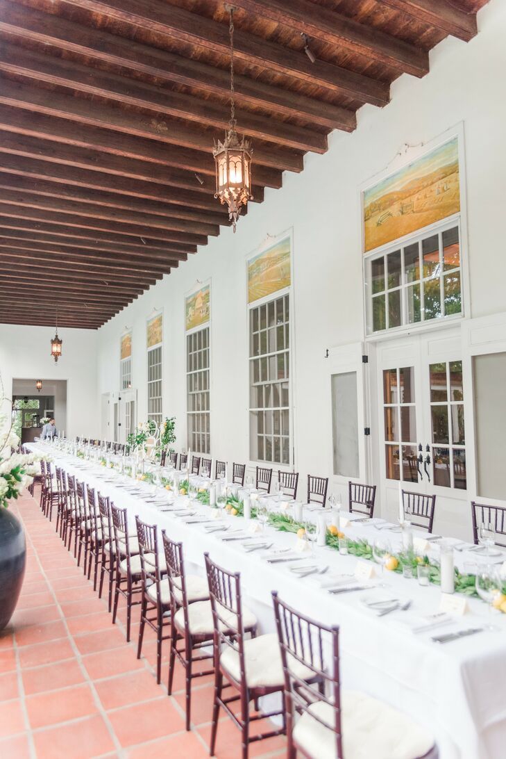 Classic Neutral Reception at Los Poblanos Ranch