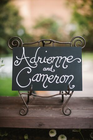 Handwritten Couple Sign