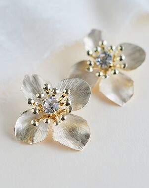 Dareth Colburn Willa Floral Statement Studs (JE-4191) Wedding Earring photo