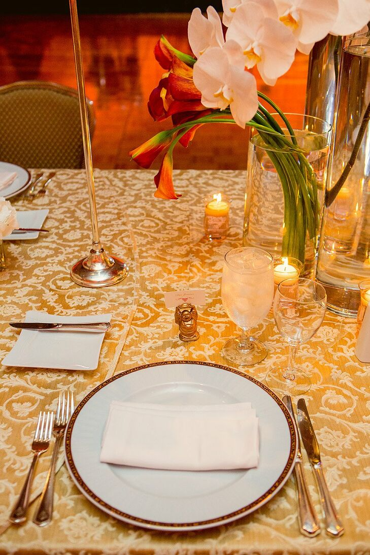 Intricate Gold Tablecloth