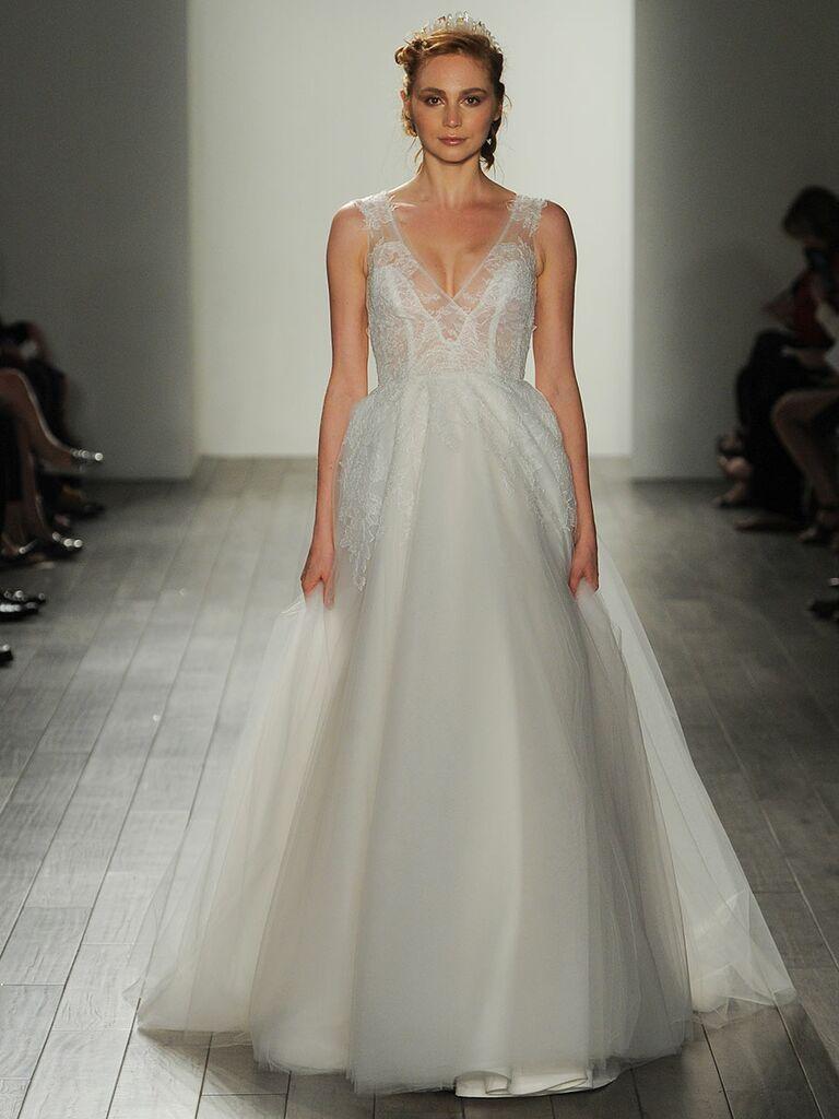 993c3ff3c8fa Hayley Paige Fall/Winter 2017 strapless V-neck sheer bodice wedding dress