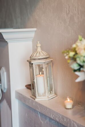 Candlelit Champagne Lantern Reception Accent