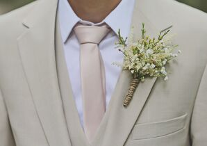 Tan Suite with Rustic Boutonniere