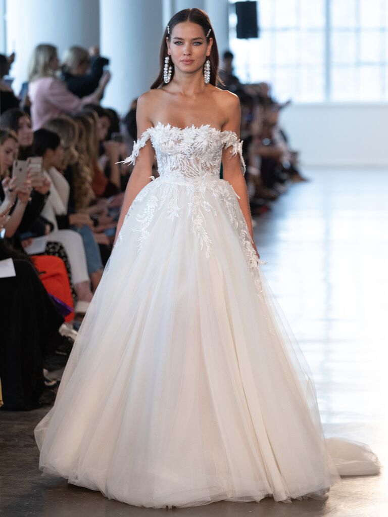 Berta Spring 2020 Bridal Collection off-the-shoulder ball gown wedding dress