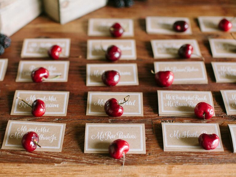 cherry escort card display