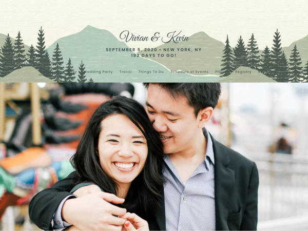 Vintage Mountain Wedding Website Template, The Knot