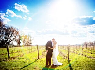 Jamie (30 and a gymnastics director and supply teacher) and Cory (28 and an engineer) held their country, rustic wedding at Holland Marsh Wineries in