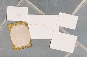 White and Gold Invitation Suite