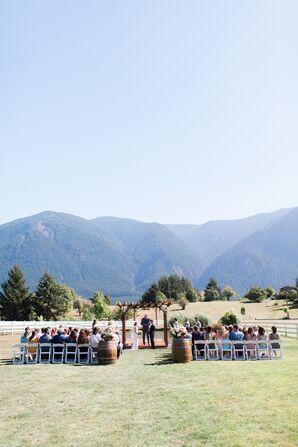 Scenic Pacific Northwest Outdoor Ceremony