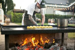 Open Air Cooking at California Wedding Reception
