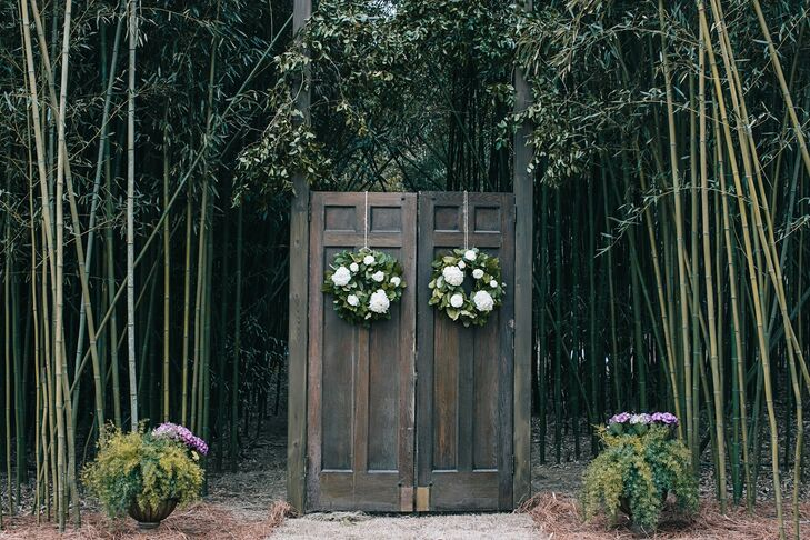 Outdoor Wedding Ceremony Doors