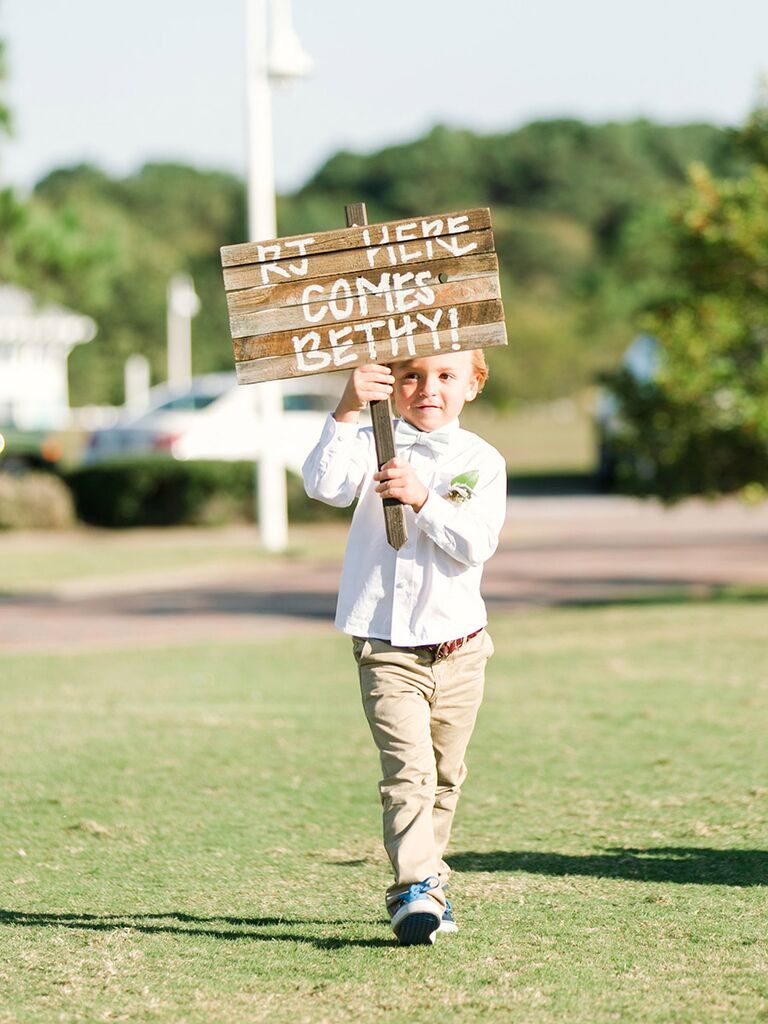 Adorable Ring Bearer Signs